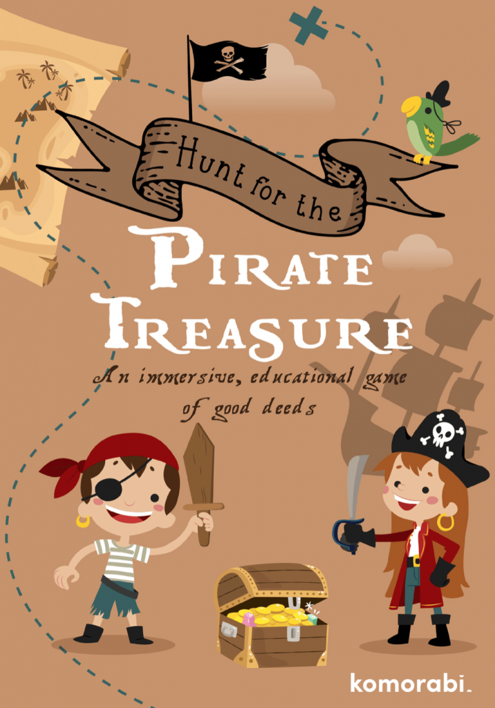 Hunt for the pirate treasure - Immersive volunteering game for kids